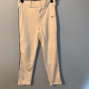 Kid's Nike Baseball Pants Size Large Color White